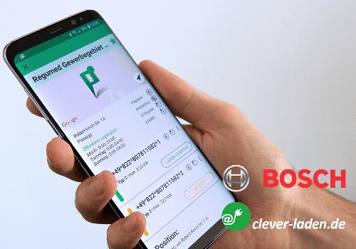 Bosch Logo Clever-tanken.de Logo Mockup Smartphone
