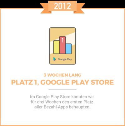 Platz 1 Google Play Store 2012