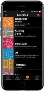 BTI App Mockup auf iPhone