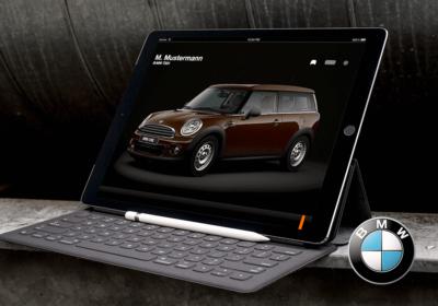 BMW Logo Bmw Service App auf iPad