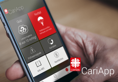 CariApp logo CariApp Mockup Smartphone