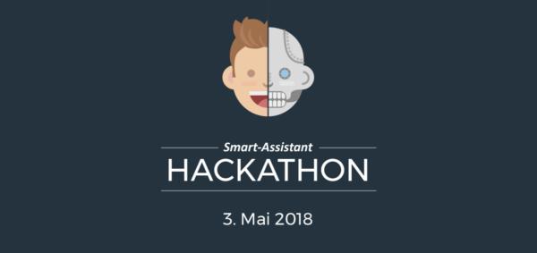 Hackathon Logo Dark Blue Background