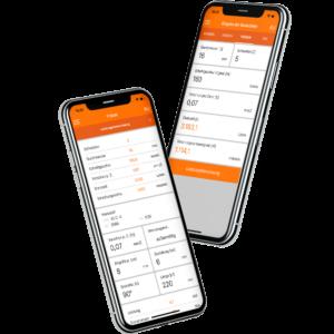 Hoffmann Group Schnittdatenrechner gezeigt auf iPhone X