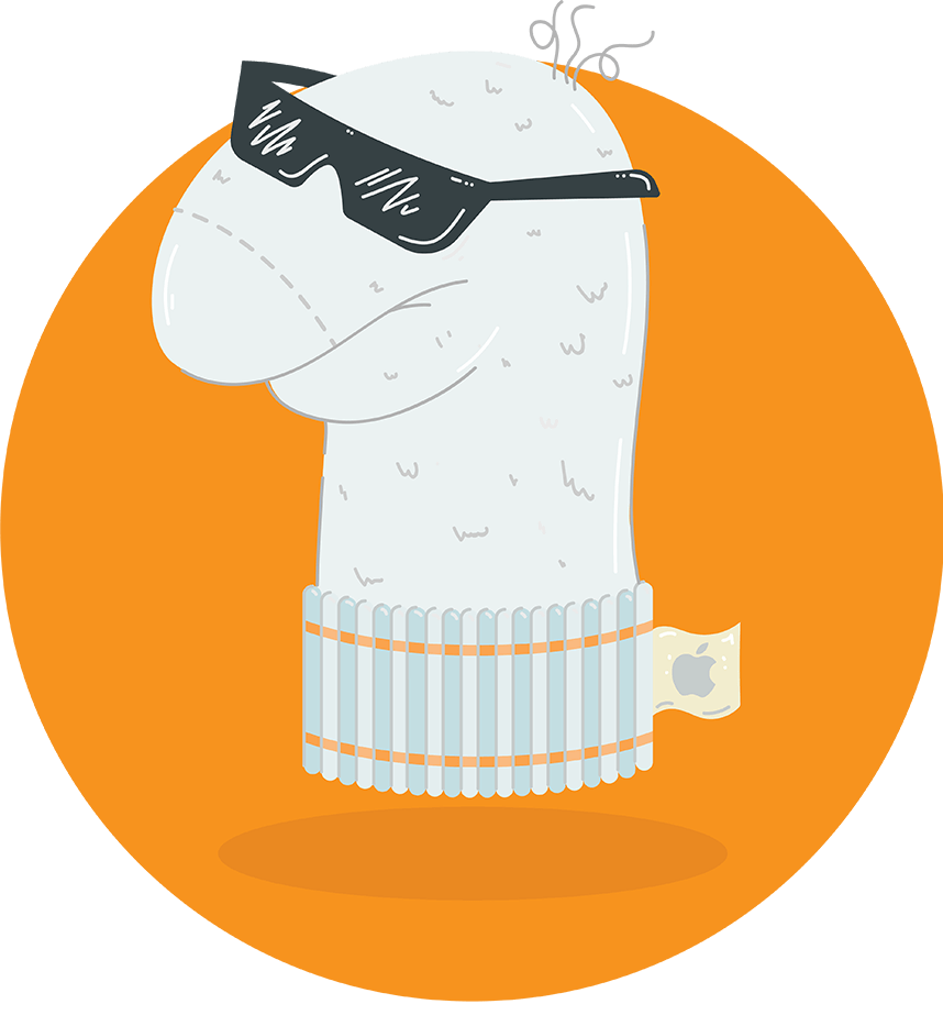 Illustration - Coole iOS Socke