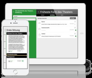 iPad und iPhone mit LMU Zeitplaner Mockup