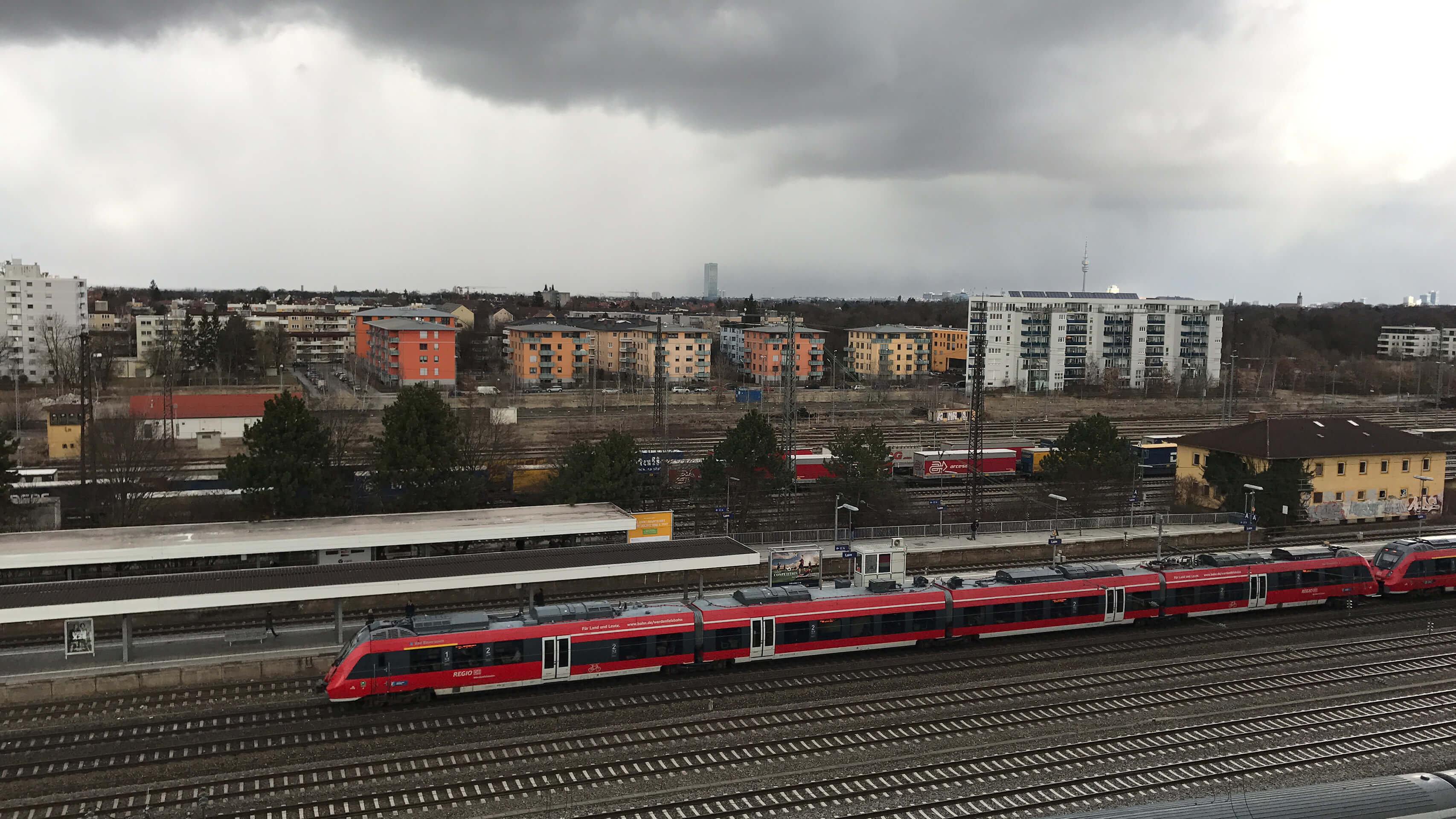 Bild vom Bahnhof München Laim mit Sbahn