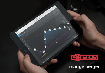 LightControl App auf iPad L'osteria logo mangelberger logo