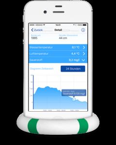 NLKWN Gewässergüte App auf iPhone