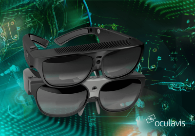 Oculavis Logo und Smart Glasses
