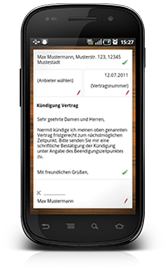 Mockup Screen auf Smartphone