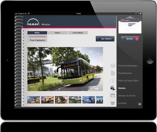 Man News App auf iPad Home Screen