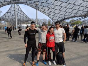 Gruppenfoto vor dem Spartan Race 2019