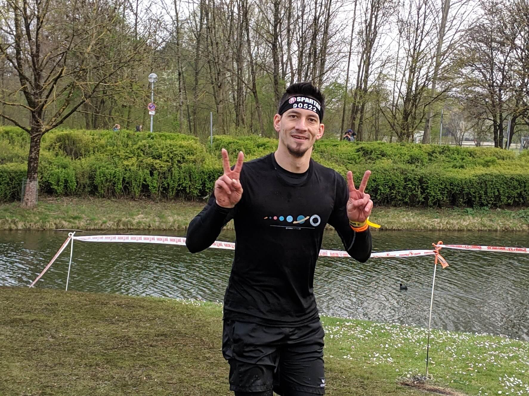 Close Up eines Läufers beim Spartan Race 2019