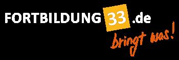 Fortbilding 33 de Logo mit slogan Bringt was!