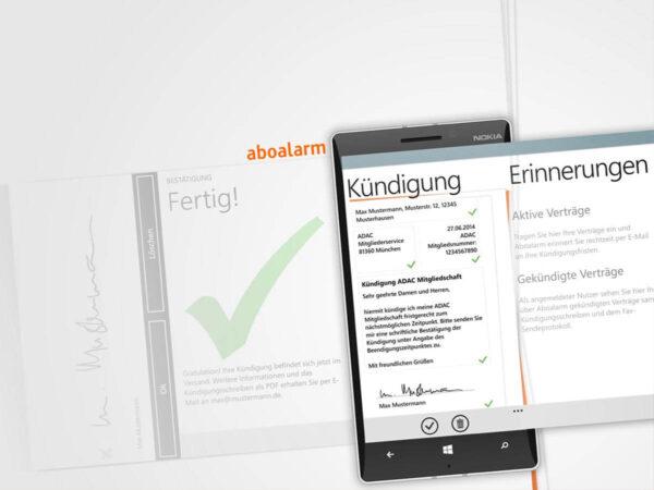 Aboalarm App auf WIndows Phone