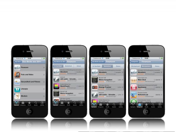 Aboalarm Platzierung im Appstore verscheidene Ansichten auf iPhone