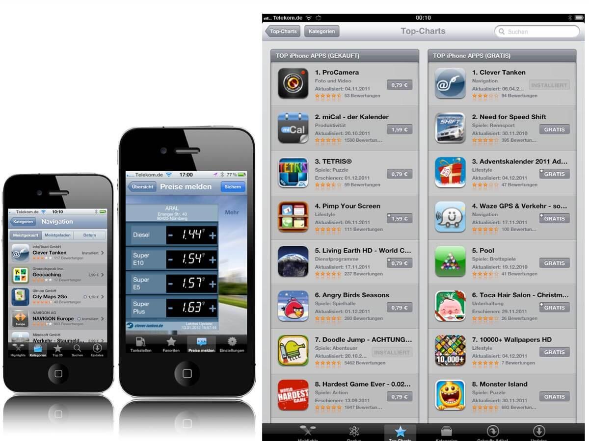 Clever Tanken App 2012 auf iPhone und im Appstore