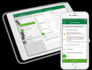 B2e App für Sachverständige und Gutachter Screens auf iPhone und iPad