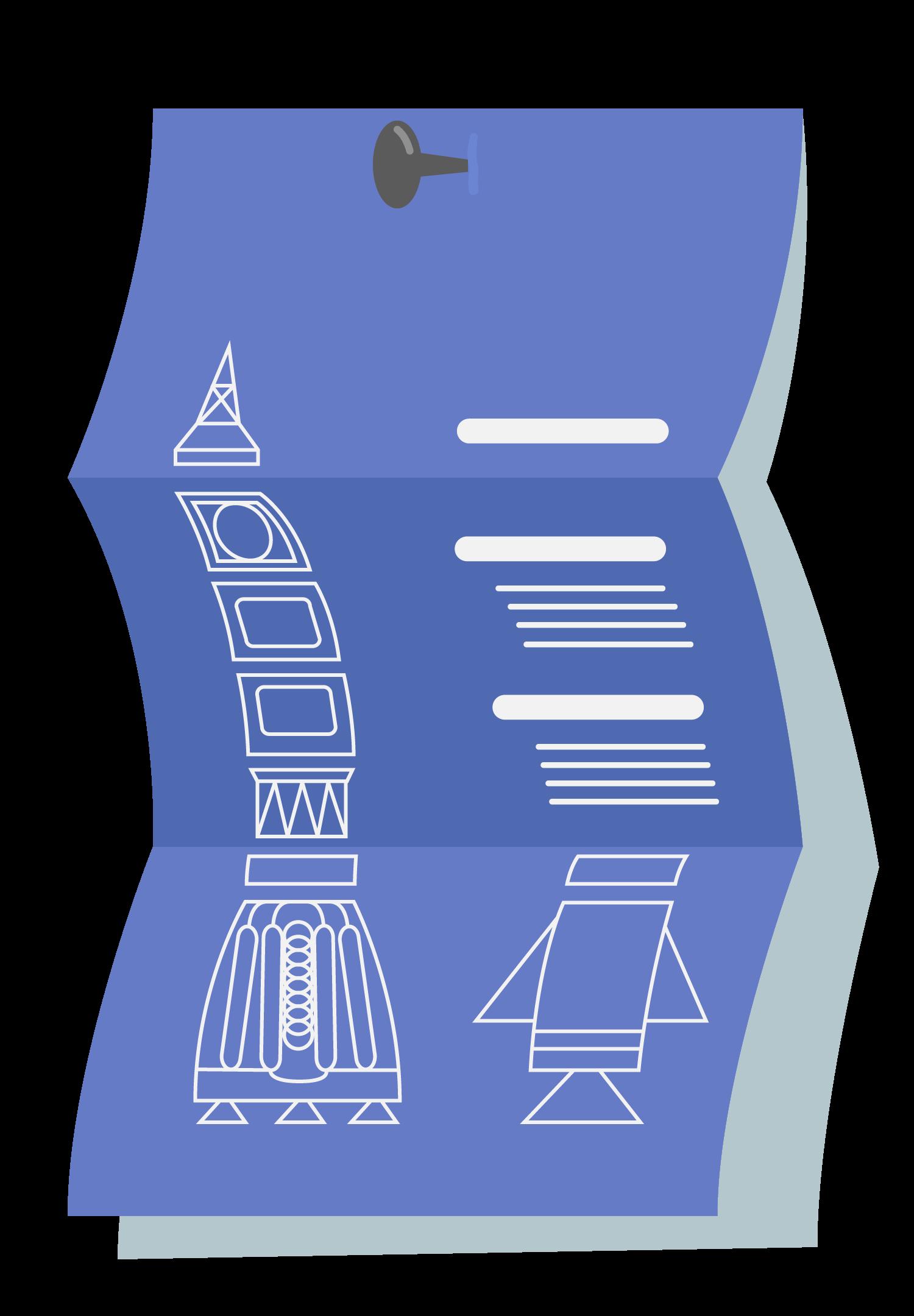 Blaupause der Projektrakete - Das Sinnbild der Mobile Software AG für den Aufbau von Projekten