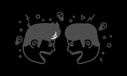Illustration - Kollegen streiten sich weil sie aus überzeugung handeln
