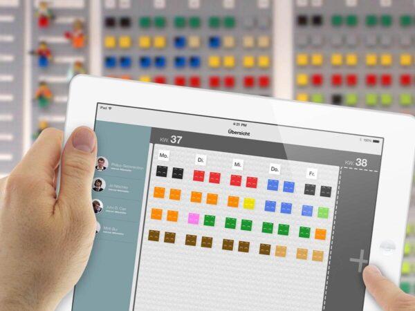Personal Einsatz Planen mit Lego App auf iPad