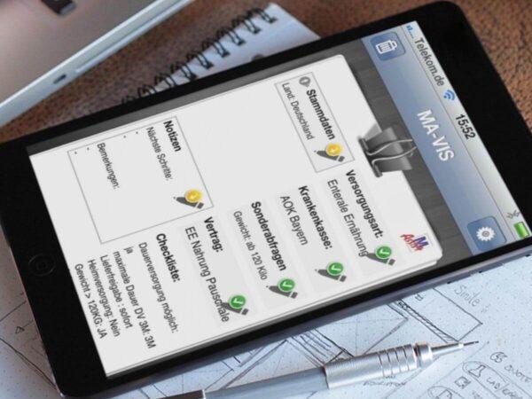 Mavis App auf iPhone