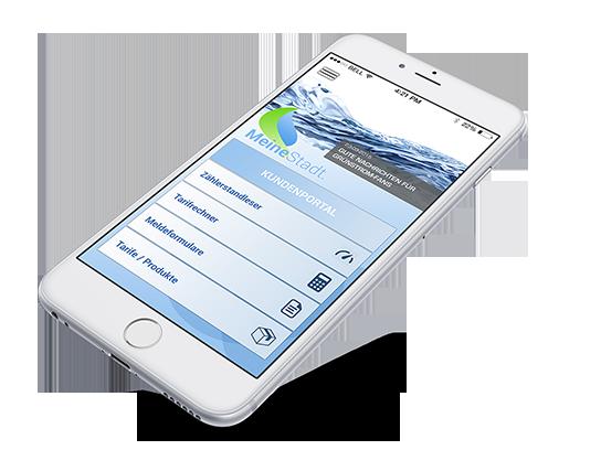 App für Stadtwerke auf iPhone