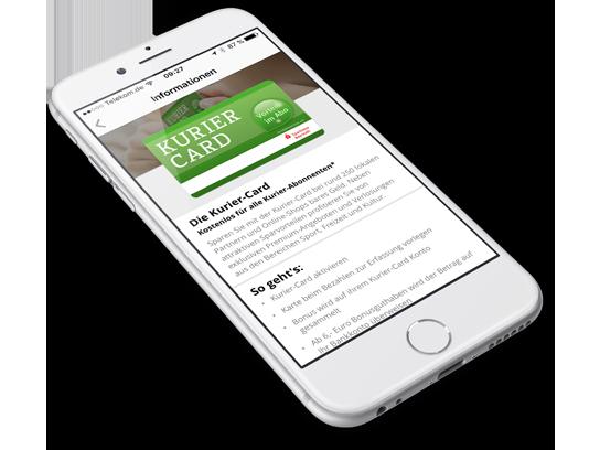 Kurier Service App auf iPhone