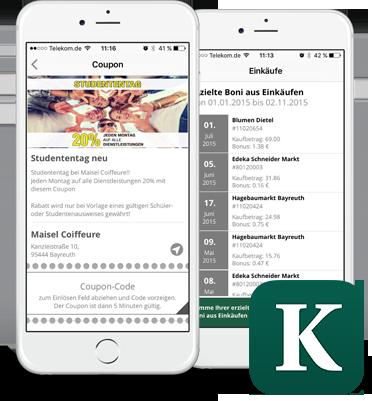 Kurier Service App auf iPhones