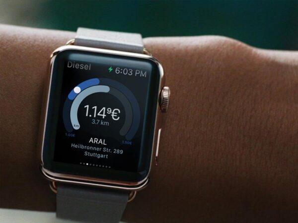 Clever Tanken App auf Apple Watch