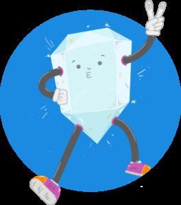 Illustration Diamant Charakter