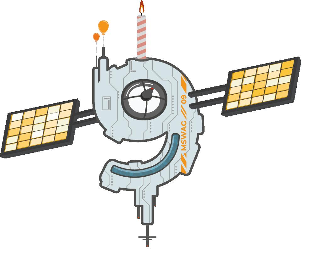 Illustrierte 9 als Raumstation