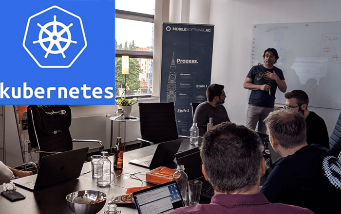 foto vom kubernetes workshop mit WorNetAG und Mobile Software AG