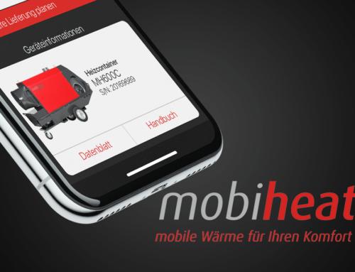 mobiheat. Fernüberwachungs-App für mobile Heizgeräte